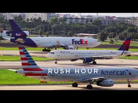 Tampa International Airport Plane Spotting Rush Hour