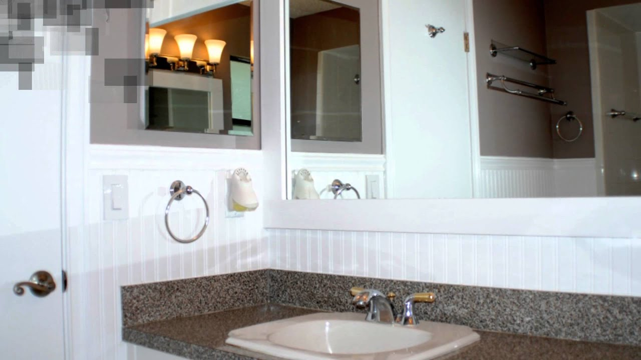 Half Bath Shower How To Install Beadboard In A Bathroom Youtube