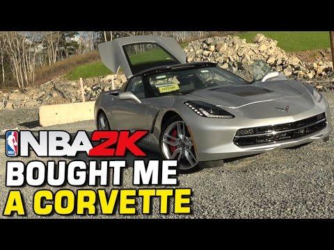 NBA2K BOUGHT ME A CORVETTE STINGRAY 2017!! NEW CAR VLOG!