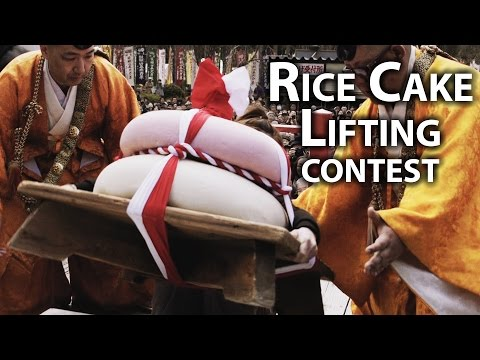 Kyoto Festival: Mochi Lifting Competition at Daigo-ji (Mochiage)