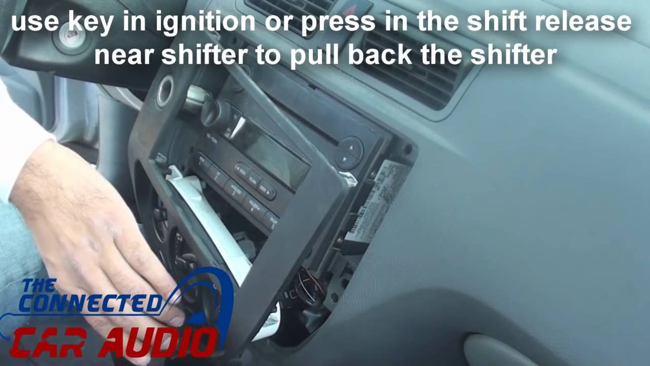 remove factory stereo ford focus 2005-2007 - YouTube
