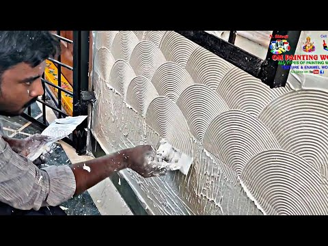 wall putty texture | wall painting ideas | wall designing