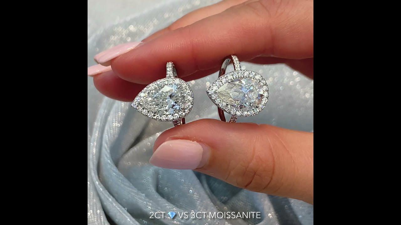 6.01 ct Round Diamond Signature Wrap Engagement Ring