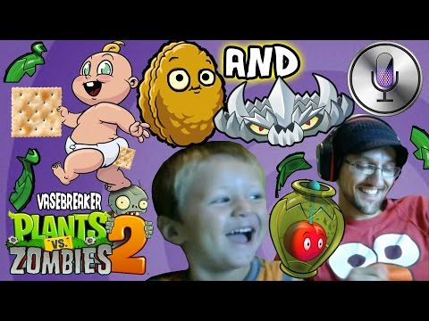 Plants vs. Zombies 2: Vase Breaker! Butt Crackers, Nasty SIRI (Block & Spike Nightmare w/ Chase)