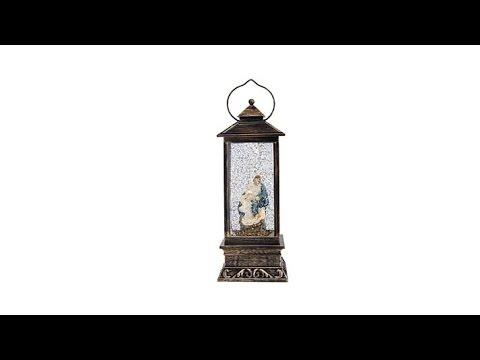 Winter Lane Musical Snow Globe Lantern