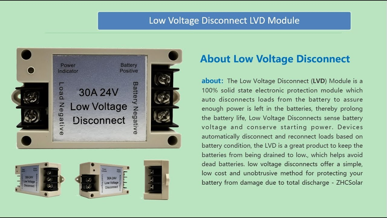 Battery Low Voltage Cut off Switch Controller Excessive Protection 30A Module