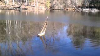 Matt Drives His Home Made Sail Boat