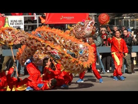 Dragons and Lion Dancers at Chicago's Chinese New Year ...