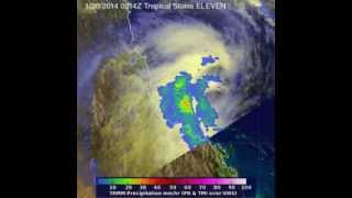 TRMM Animation of Tropical Cyclone Dylan