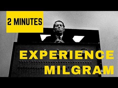 L'EXPERIENCE DE MILGRAM EN 2 MINUTES
