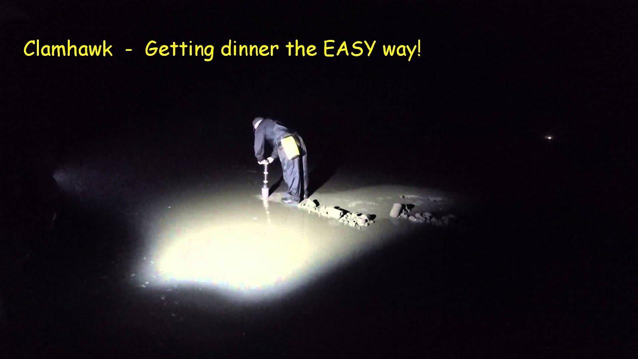 Clamhawk Night Dig for Razor Clams 2015 - YouTube