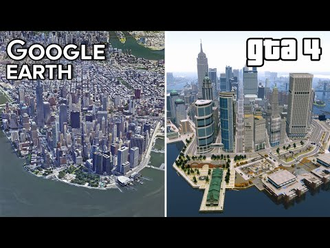 Liberty City vs New York GOOGLE Earth | GTA 4 Comparison