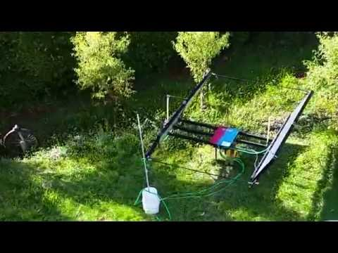 Solar panels thermal with solar tracker DIY