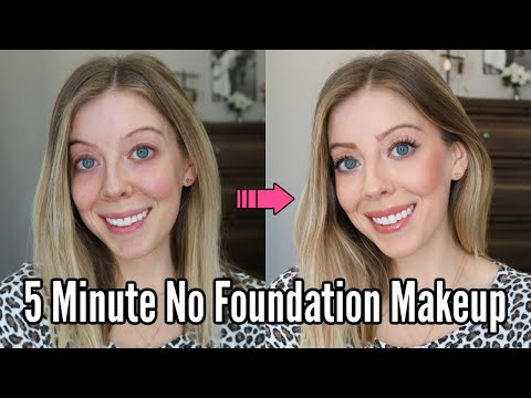Easy 5 Minute Makeup - No Foundation Makeup Tutorial
