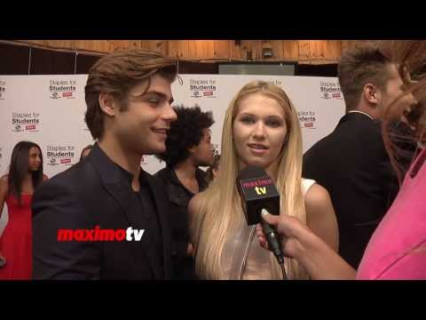 Garrett Clayton and Claudia Lee  Staples for Students 2013 Teen Choice Awards After Party