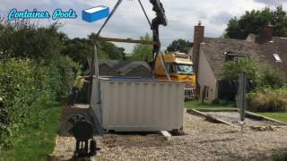 20 ft Shipping container swimming pool UK