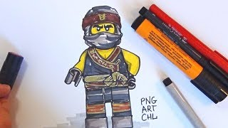 How to Draw COLE (The LEGO Ninjago Movie 2017)