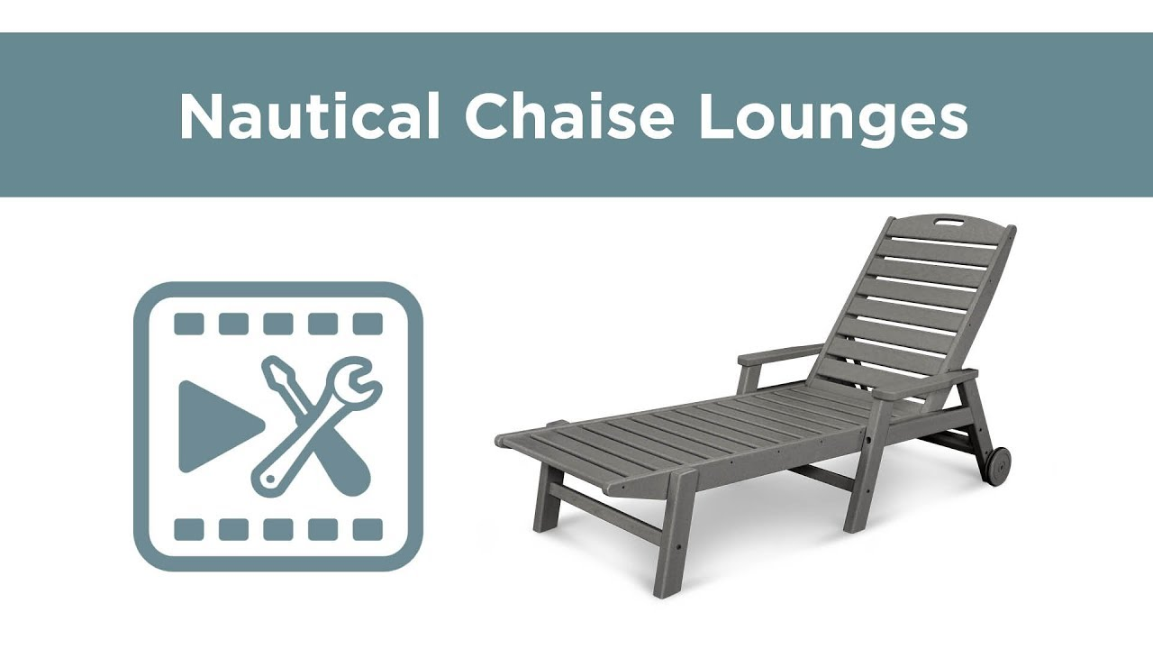 Polywood 2280 Nautical Chaise Lounge Embly Video