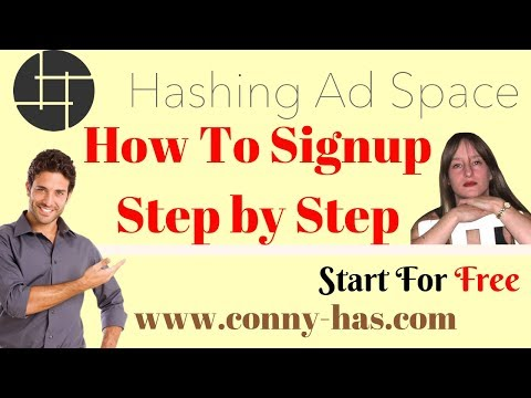 Hashing Ad Space How To Signup Step by Step