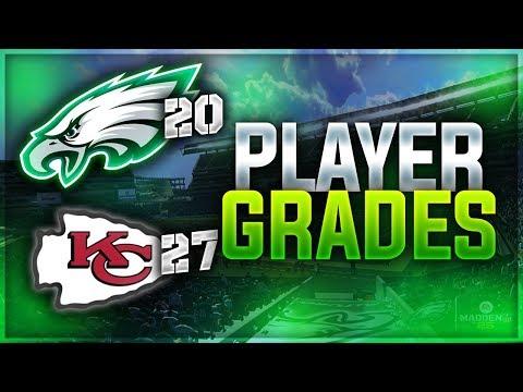 RUN THE BALL!   Eagles 20 Chiefs 27 - Week 2 Player Grades