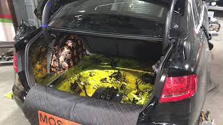 Audi А4 шумоизоляция автомобиля позволила в значительной степени уменьшить посторонние шумы в салоне