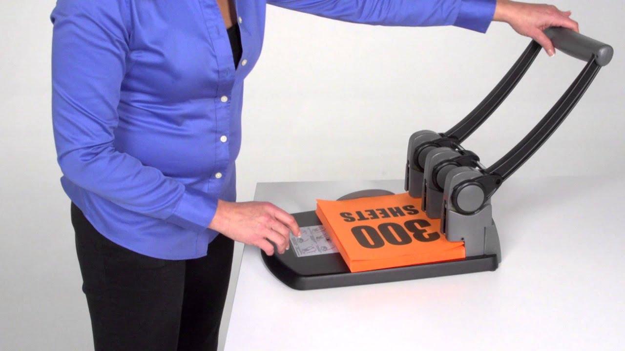 74450 40 Sheet Punch Capacity 2-4 Holes Swingline Hole Punch Black Heavy Duty Hole Puncher Adjustable