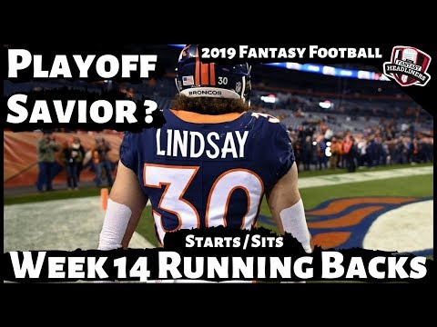 2019 Fantasy Football Advice - Week 14 Running Backs - Start Or Sit? Every Match Up