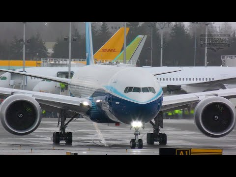 Boeing 777X First Flight - No-Go - Taxiing