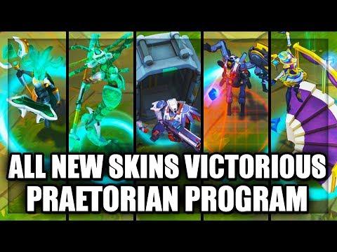 All New Skins Victorious Orianna Praetorian Graves Fiddlesticks Program LeBlanc Nami (LoL)