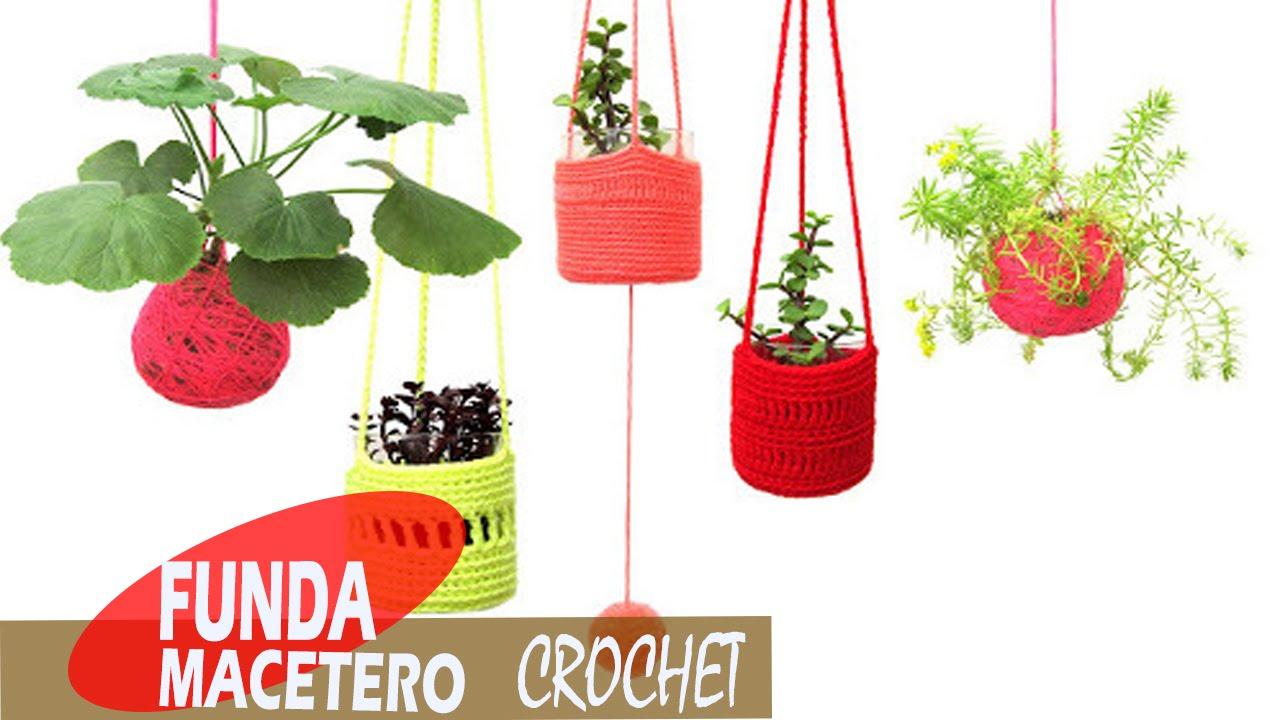 Funda Maceteros - Tejidos a Crochet - YouTube