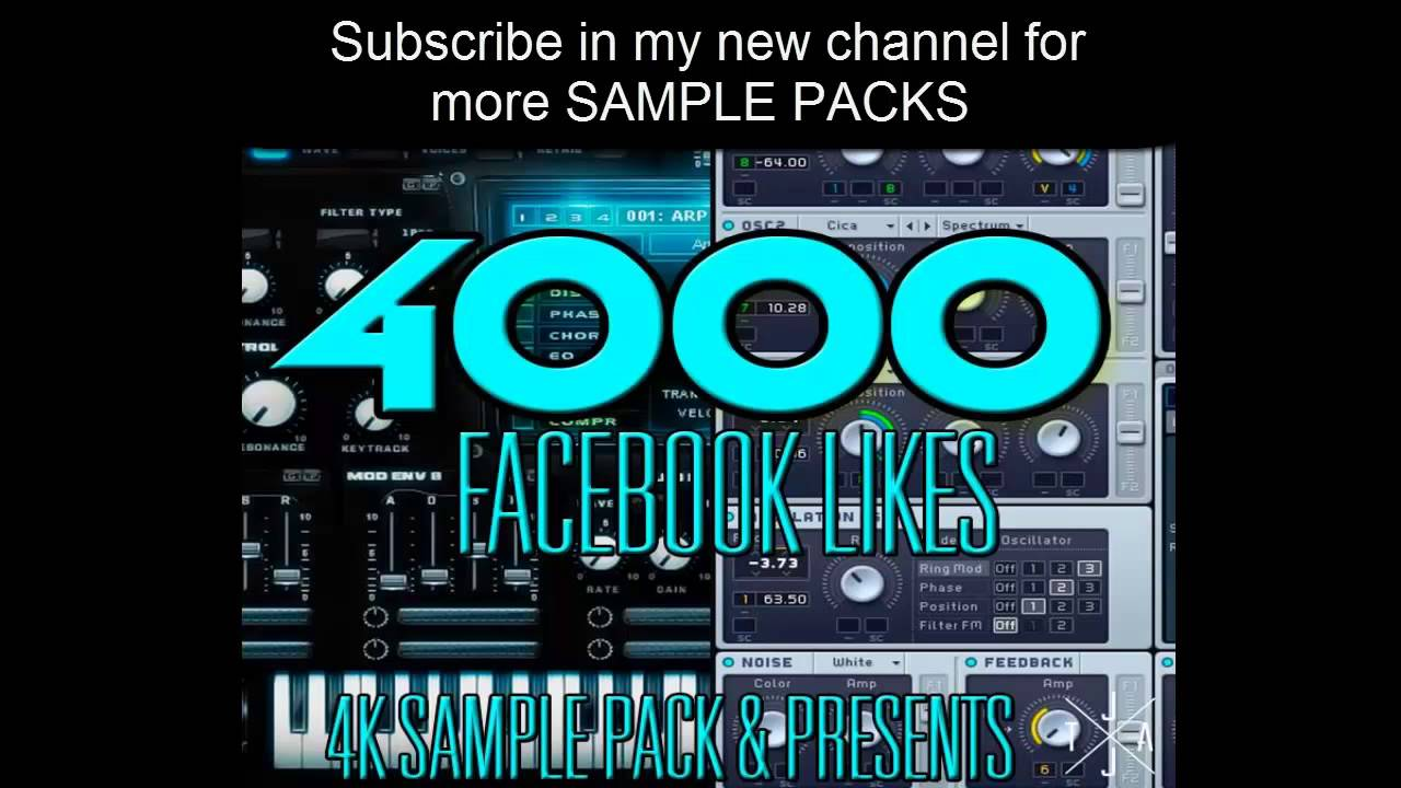 4k Sample Pack & Presets (SYLENTH1. MASSIVE) ELECTRO HOUSE. TRAP ...