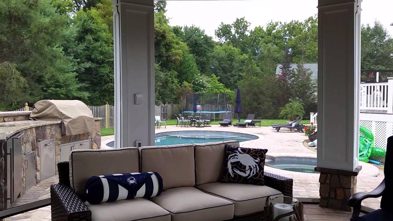 Outdoor Gazebo TV & Speakers Poolside