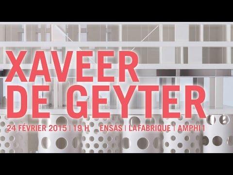 Conférence de Xaveer de Geyter, agence XDGA