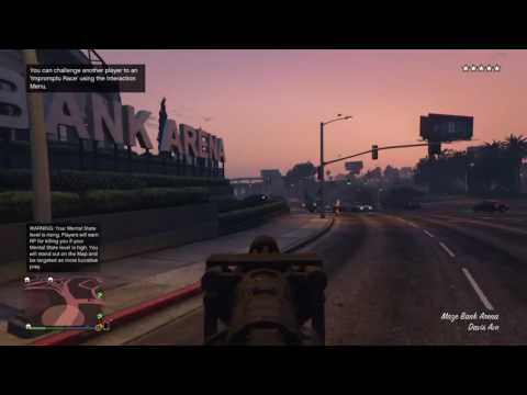 Grand theft auto V Online Challenges #5 / Limo and a minigun equals DEATH....