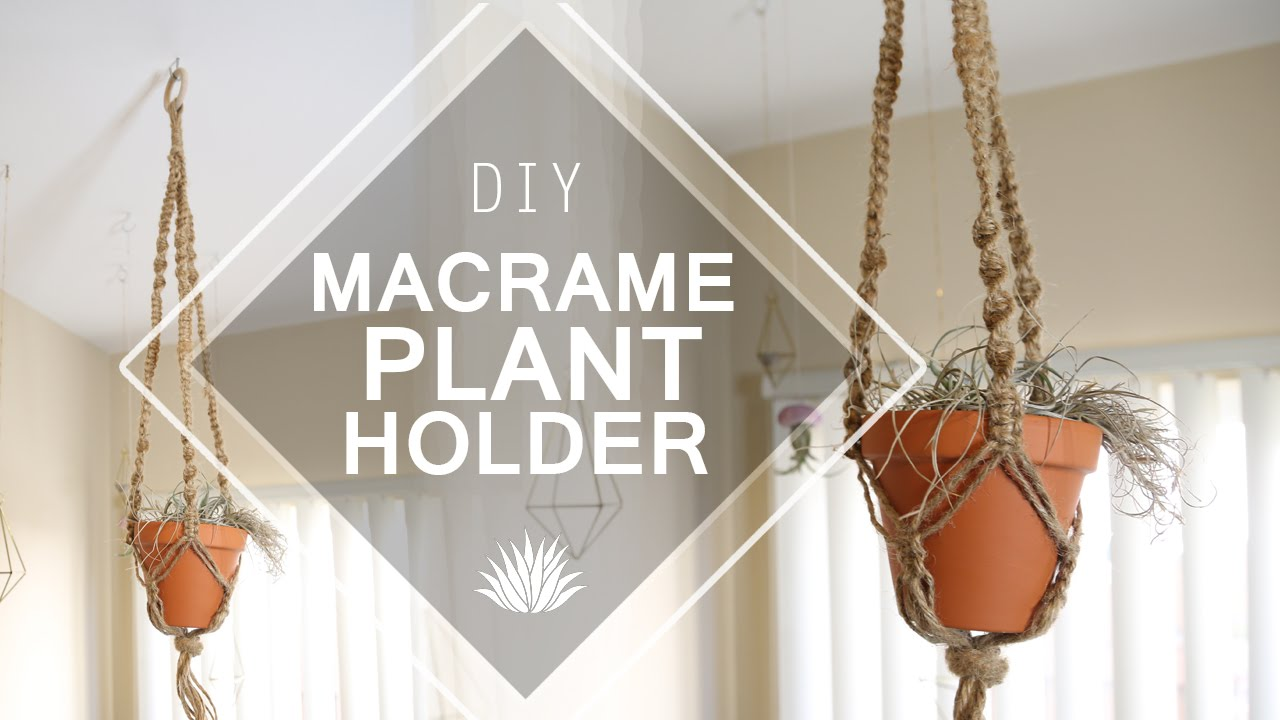 Macrame Plant Holder Diy Youtube