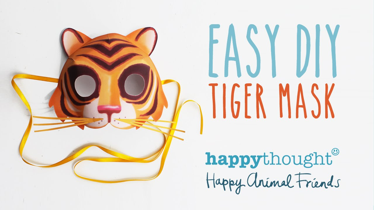 Mask Template And Tutorial Make Your Own 3D Paper Tiger