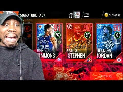 SIGNATURE PACK OPENING w/GUARANTEED 90+ OVR ELITE! NBA Live Mobile 18 Ep. 25
