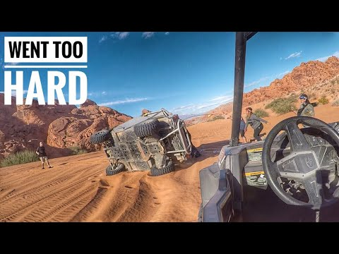 Flipping RZR's in the Desert