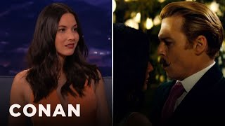 Olivia Munn: Johnny Depp Kept Grabbing My Boob  - CONAN on TBS thumbnail