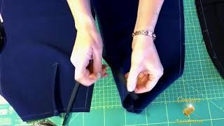 dans cette vidéo : assembler les parties devant et dos, monter la fermeture, coudre la ceinture, la fente et un ourlet invisible professionellement. Coudre jupe ...