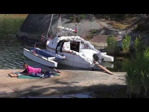 Small trimaran Stockholm Archipelago and Mälaren Lake  sailing 2017 ver.2