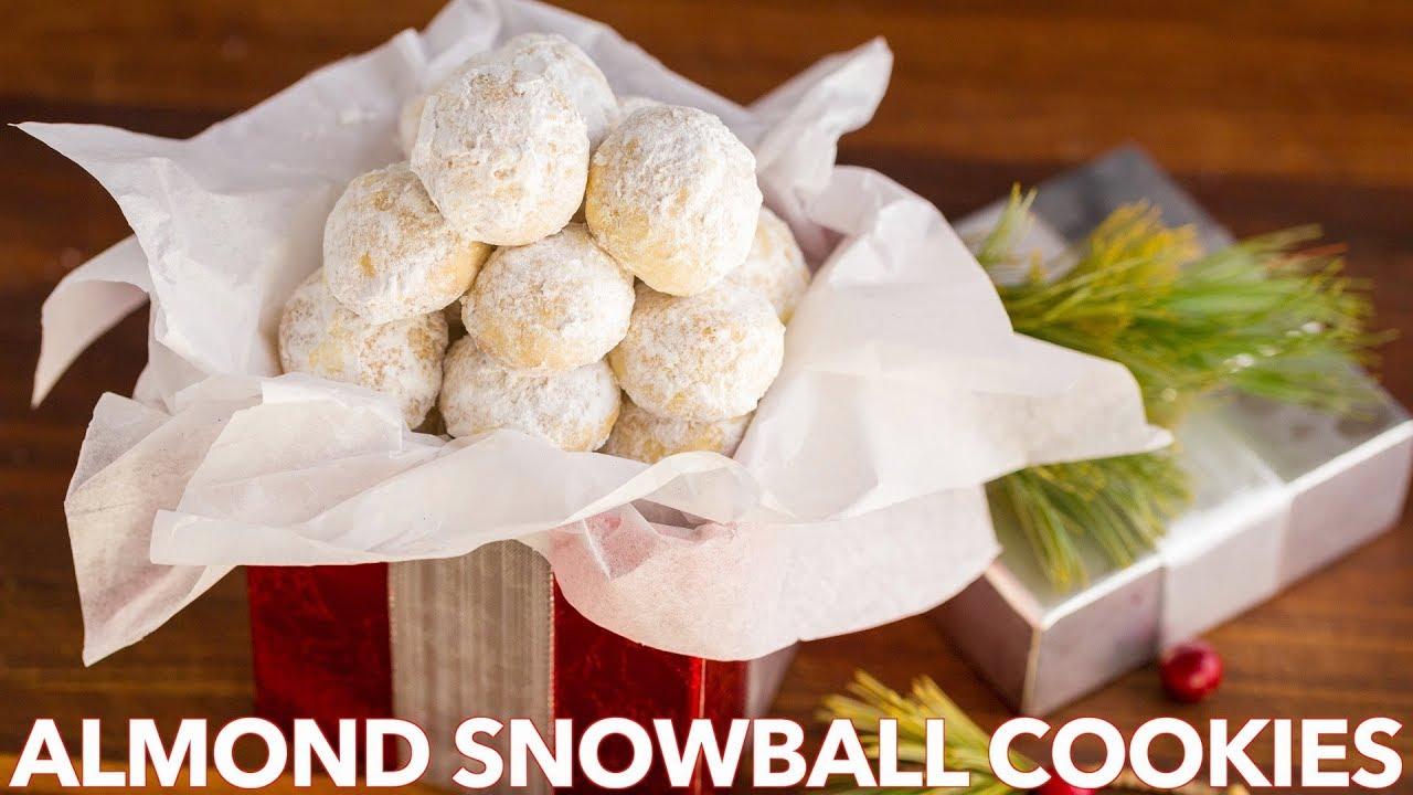 Almond Snowball Cookies Recipe Video Natashaskitchen Com