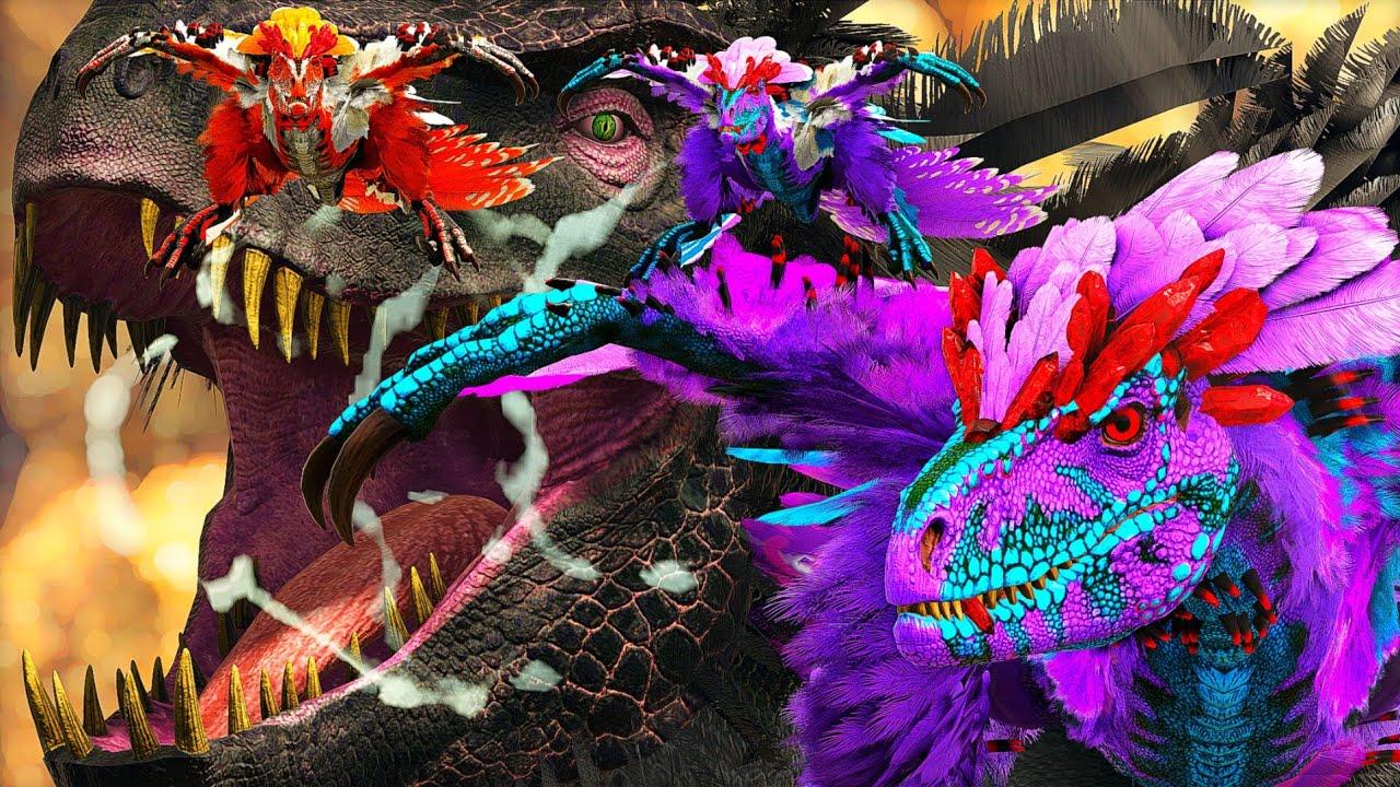 Corre! O Dragão da NOITE Quer Devorar Meus Bebês Deinonychus! Ark Dinossauros