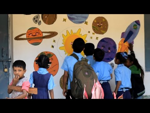 Wall art painting at Government Lower Primary School.