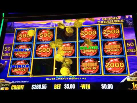 Lightning Link: Bengal Treasures major jackpot win