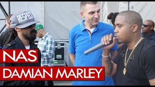 Nas & Damian Marley talk performing together at Wireless