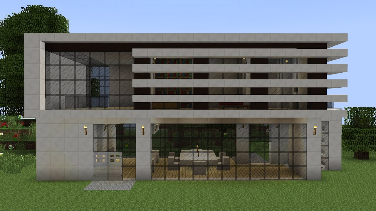Minecraft How To Build A Modern Vacation House 3 Youtube