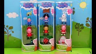 Свинка Пеппа. НОВЫЕ НАБОРЫ СВИНКИ ПЕППЫ - ТУБЫ. Распаковка и обзор игрушек Пеппы и ее друзей