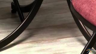 Innobella Destinay 38 In. Round Chocolotto Wood Folding Table With Chairs - Product Review Video