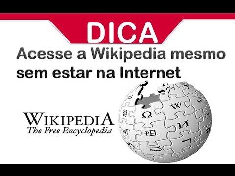 Acesse a Wikipedia mesmo sem estar na internet - Offline